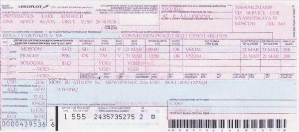 truffe biglietto aereo falso